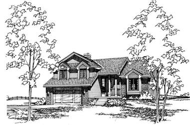 3-Bedroom, 1699 Sq Ft Small House Plans - 120-1284 - Main Exterior