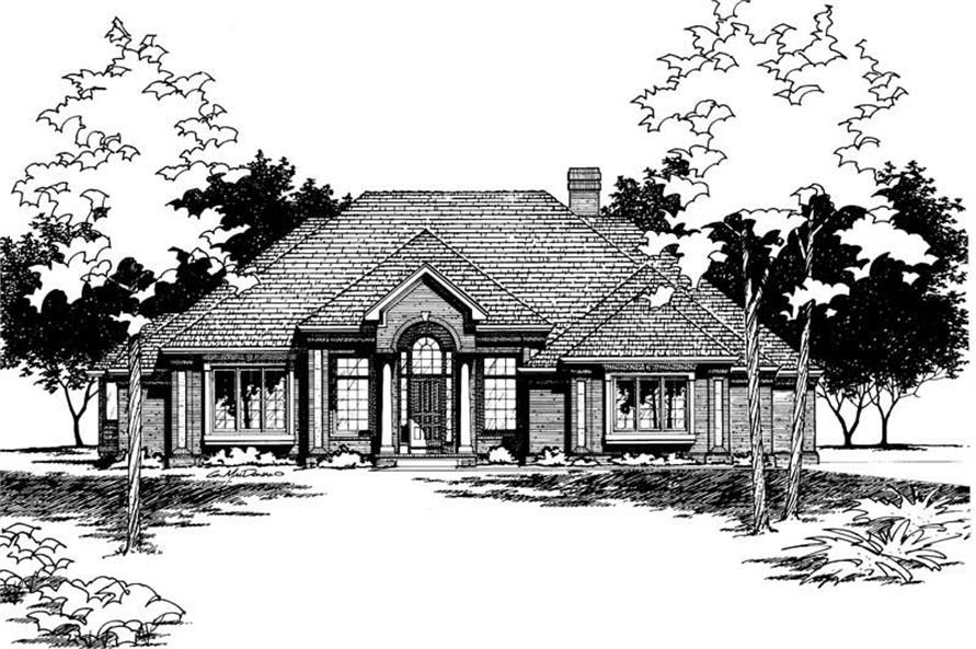 Front Elevation of this 3-Bedroom,2456 Sq Ft Plan -2456