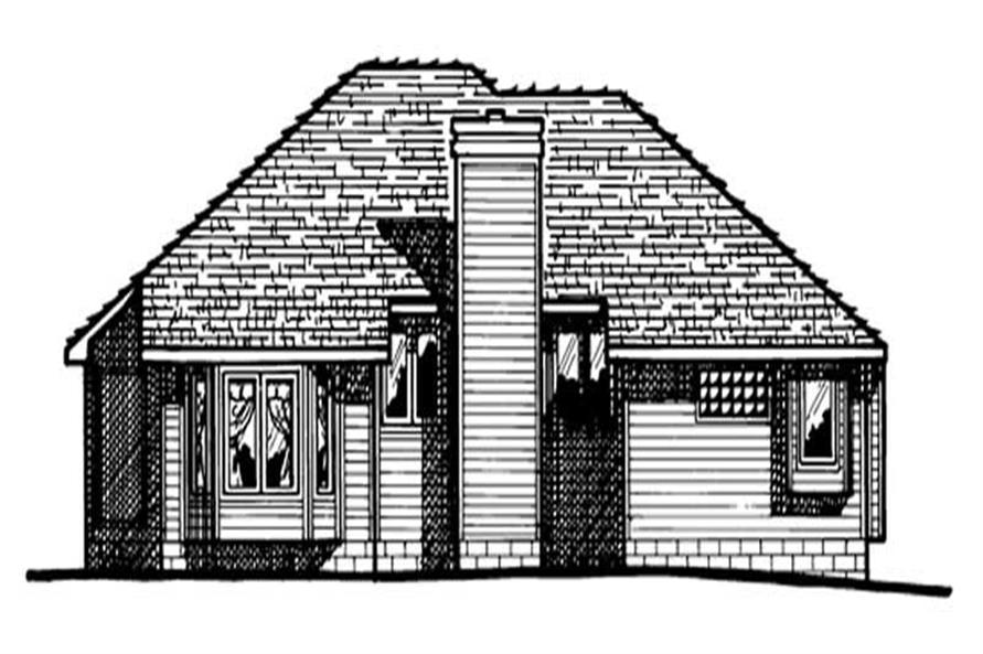 Home Plan Rear Elevation of this 3-Bedroom,1622 Sq Ft Plan -120-1299