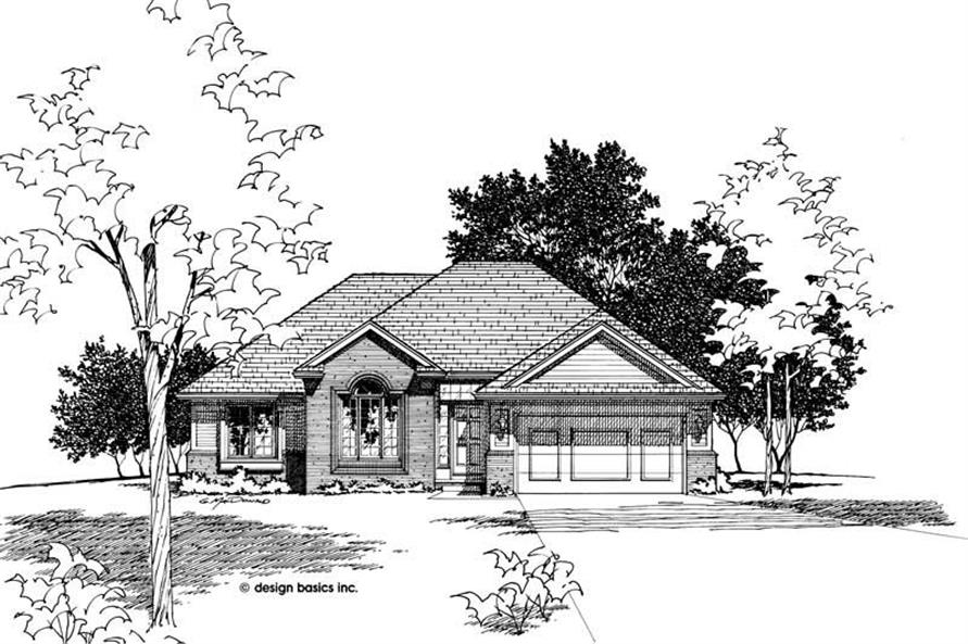Front Elevation of this 3-Bedroom,1622 Sq Ft Plan -1622