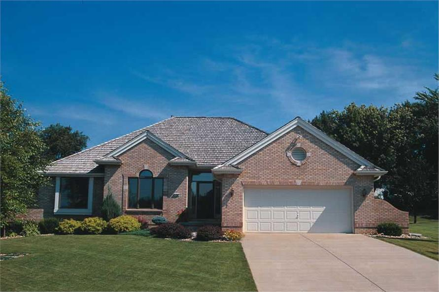 3-Bedroom, 1622 Sq Ft Small House Plans - 120-1299 - Front Exterior