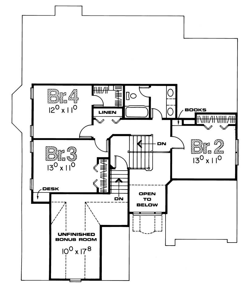 House Plan 120 1300 4 Bedroom 2403 Sq Ft Traditional