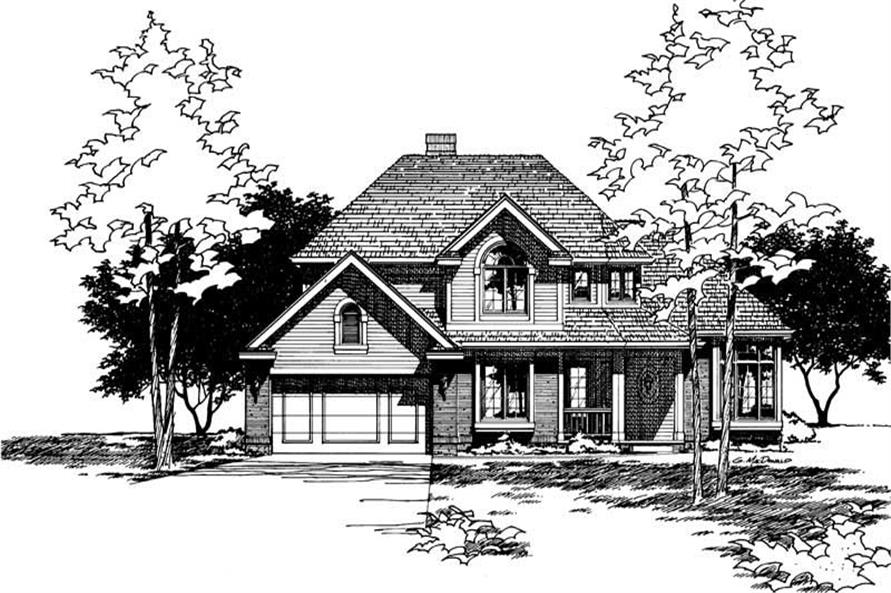 Front Elevation of this 4-Bedroom,2089 Sq Ft Plan -2089
