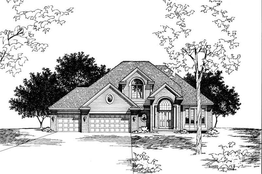 Home Plan Rendering of this 4-Bedroom,2603 Sq Ft Plan -120-1308