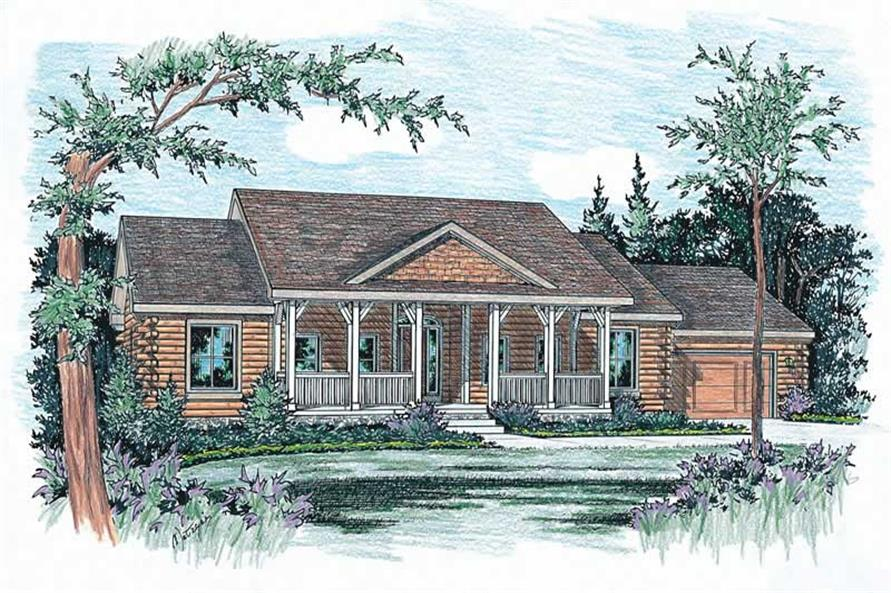 Home Plan Rendering of this 3-Bedroom,2164 Sq Ft Plan -120-1309