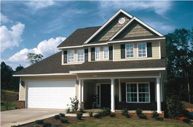 3-Bedroom, 1699 Sq Ft Country Home Plan - 120-1310 - Main Exterior
