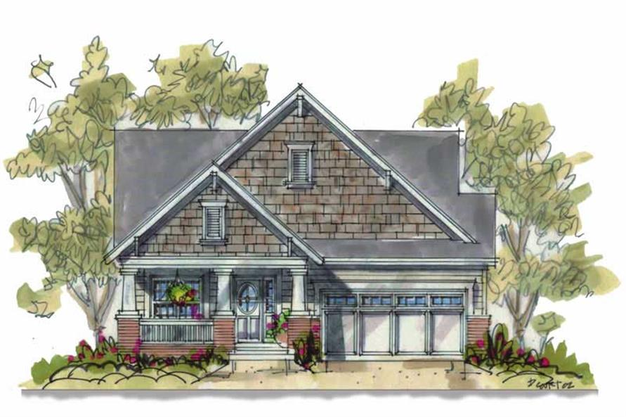 2-Bedroom, 1344 Sq Ft Small House Plans - 120-1311 - Main Exterior