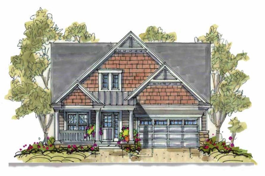 4-Bedroom, 2126 Sq Ft Traditional Home Plan - 120-1312 - Main Exterior