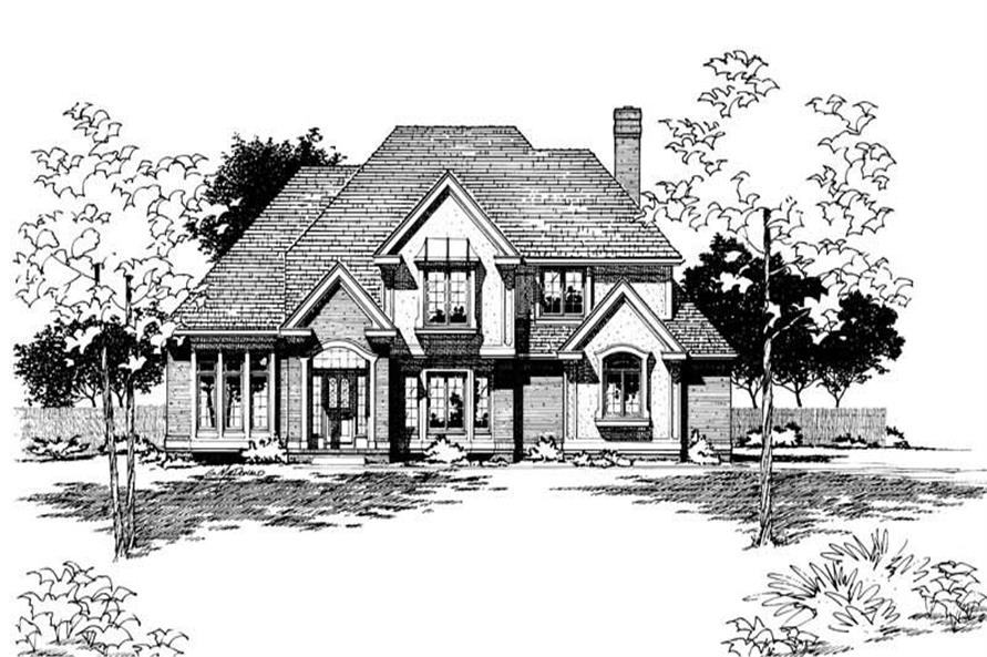 Front Elevation of this 4-Bedroom,3057 Sq Ft Plan -3057