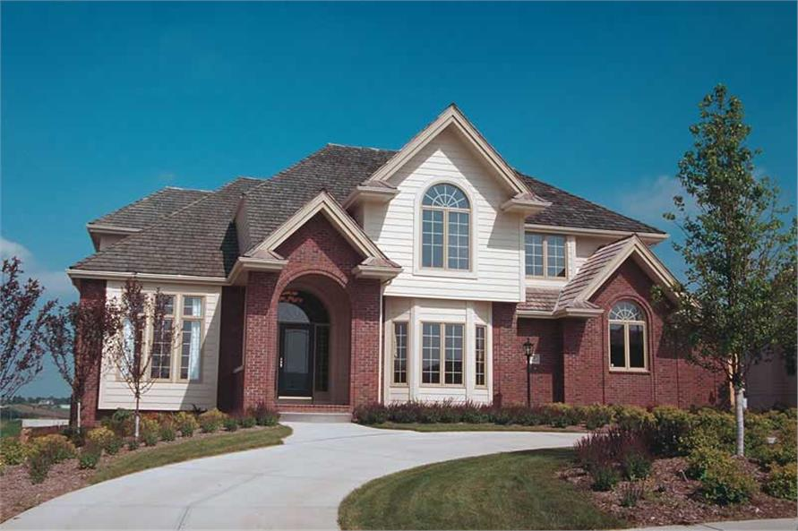 4-Bedroom, 3057 Sq Ft European House Plan - 120-1320 - Front Exterior