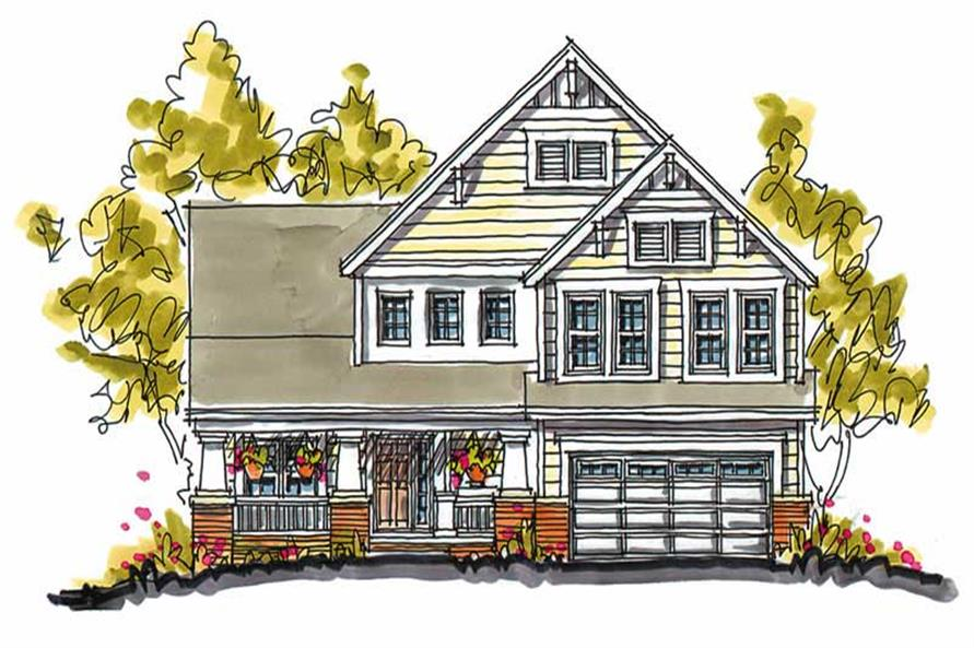 4-Bedroom, 2552 Sq Ft Country Home Plan - 120-1326 - Main Exterior