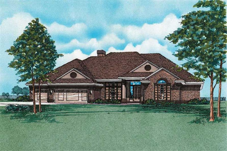 Main image for house plan # 5840