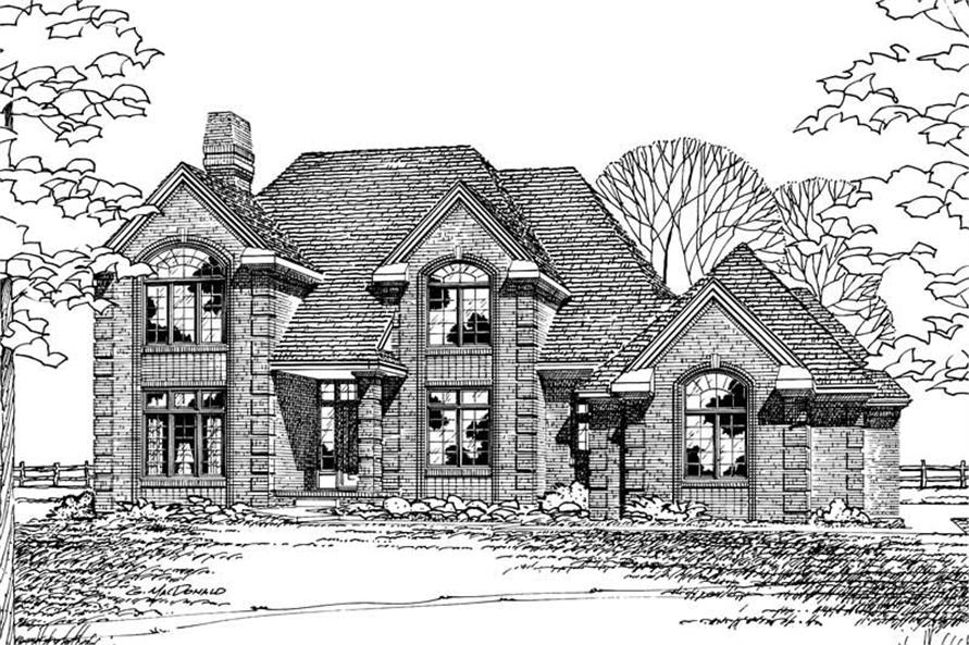 4-Bedroom, 3337 Sq Ft European Home Plan - 120-1331 - Main Exterior