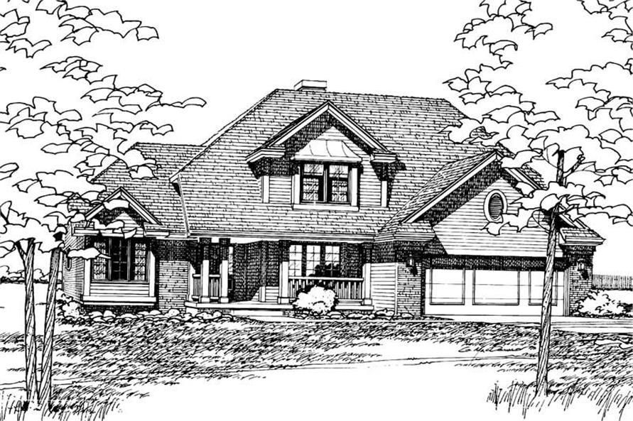 Home Plan Rendering of this 4-Bedroom,1999 Sq Ft Plan -120-1334