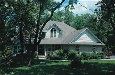 4-Bedroom, 1999 Sq Ft Country Home Plan - 120-1334 - Main Exterior