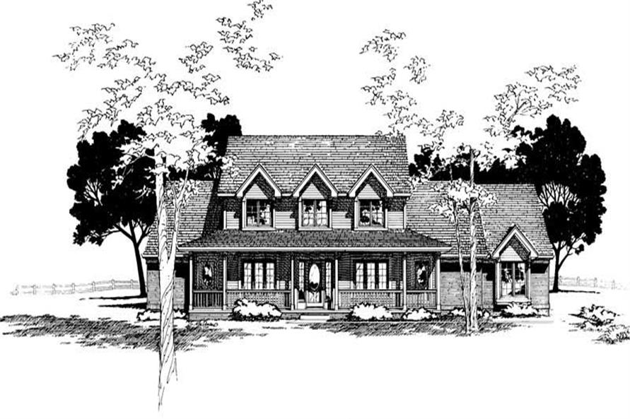 4-Bedroom, 2695 Sq Ft Country House Plan - 120-1335 - Front Exterior
