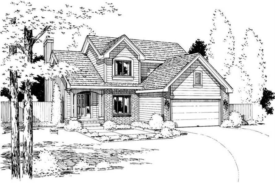 Front Elevation of this 3-Bedroom,1715 Sq Ft Plan -1715