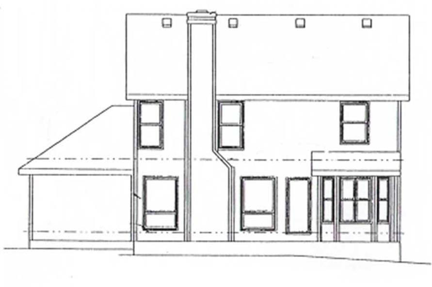 Home Plan Rear Elevation of this 3-Bedroom,1753 Sq Ft Plan -120-1344