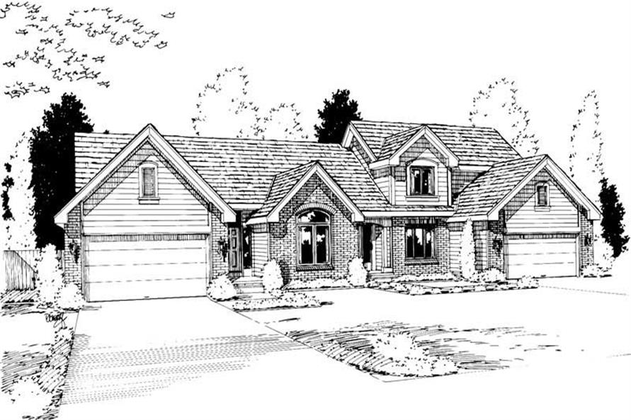 3-Bedroom, 1621 Sq Ft Multi-Unit House Plan - 120-1352 - Front Exterior