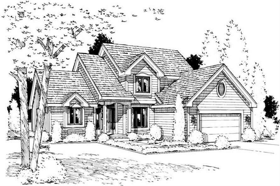 Home Plan Rendering of this 3-Bedroom,1837 Sq Ft Plan -120-1353