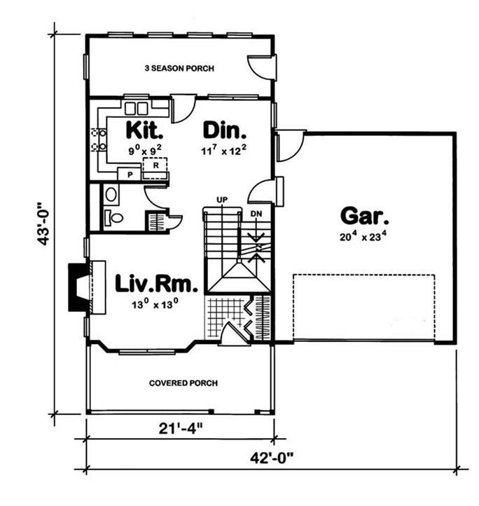 Country House Plan Bedrms Baths Sq Ft - 3 season porch plans