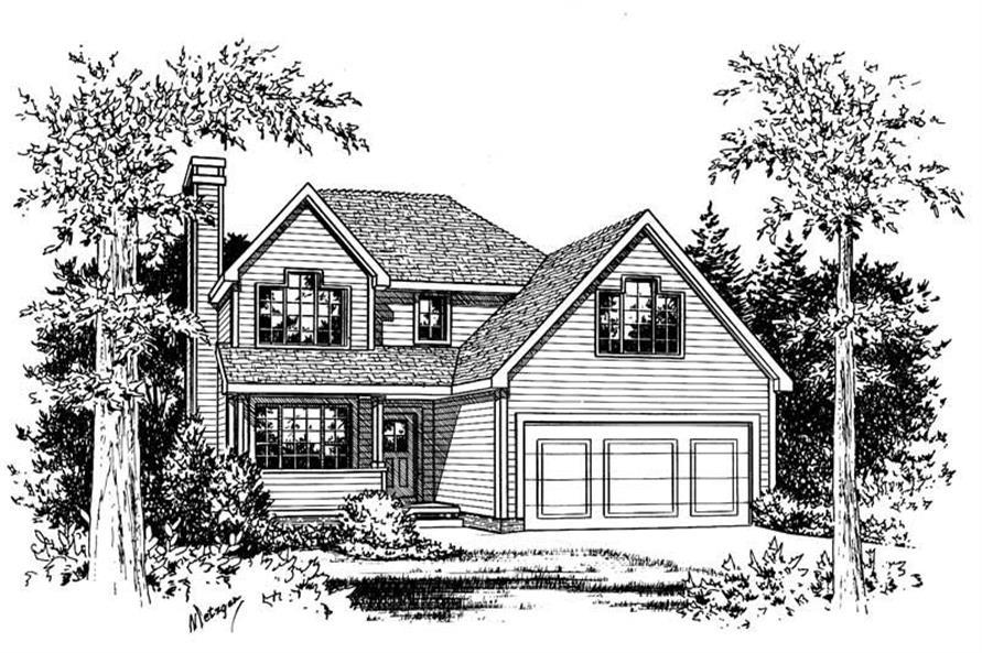 Home Plan Rendering of this 3-Bedroom,1491 Sq Ft Plan -120-1369