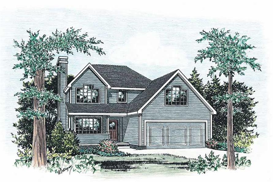 3-Bedroom, 1491 Sq Ft Small House Plans - 120-1369 - Main Exterior