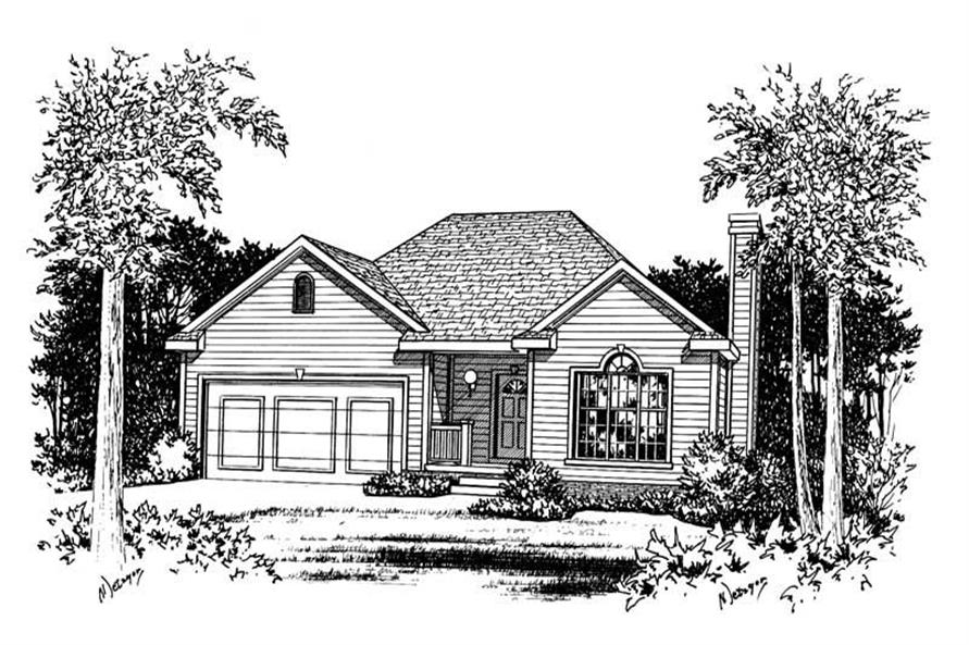 Main image for house plan # 5491