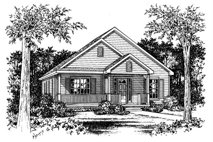 Main image for house plan # 5494