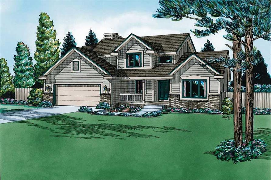 Main image for house plan # 5704