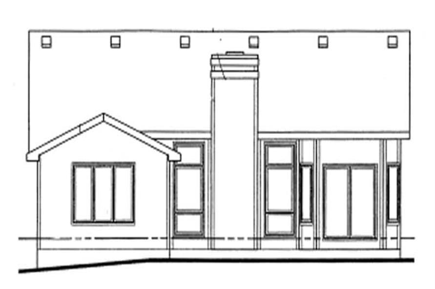 Home Plan Rear Elevation of this 3-Bedroom,1562 Sq Ft Plan -120-1388