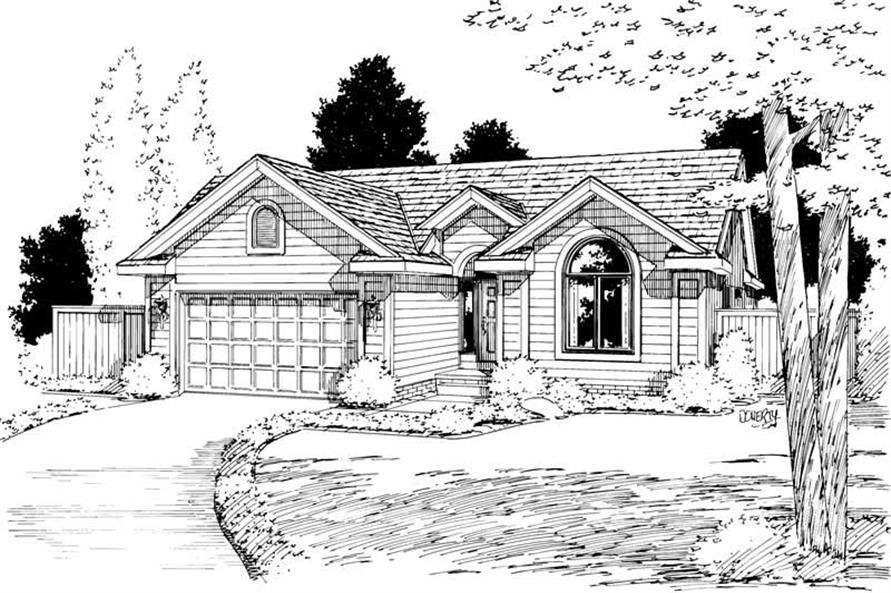 3-Bedroom, 1562 Sq Ft Small House Plans - 120-1388 - Front Exterior