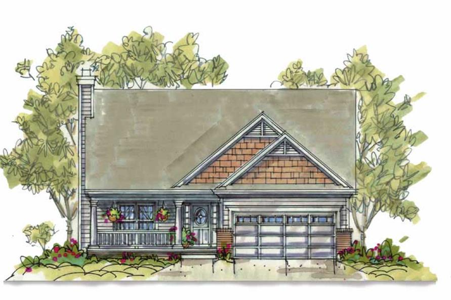 4-Bedroom, 1809 Sq Ft Country Home Plan - 120-1393 - Main Exterior