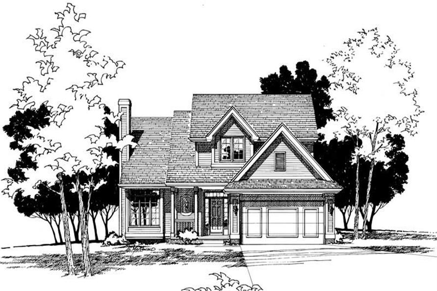 Front Elevation of this 3-Bedroom,1605 Sq Ft Plan -1605