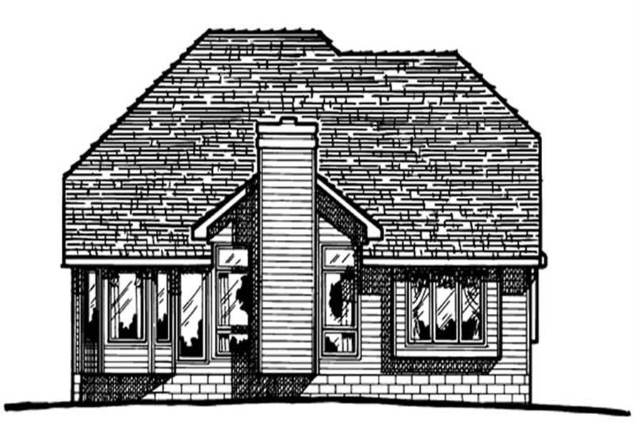 Home Plan Rear Elevation of this 4-Bedroom,1948 Sq Ft Plan -120-1401