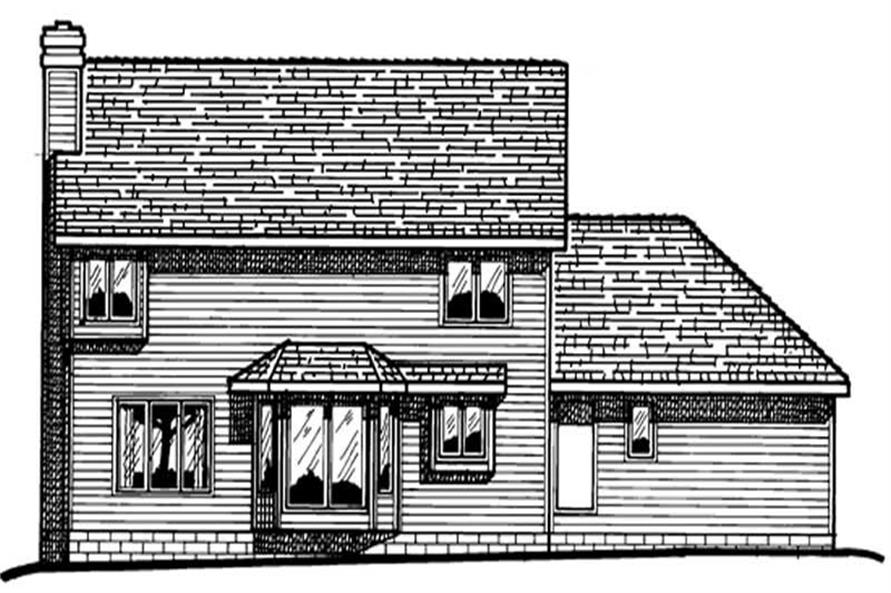 Home Plan Rear Elevation of this 3-Bedroom,1998 Sq Ft Plan -120-1409