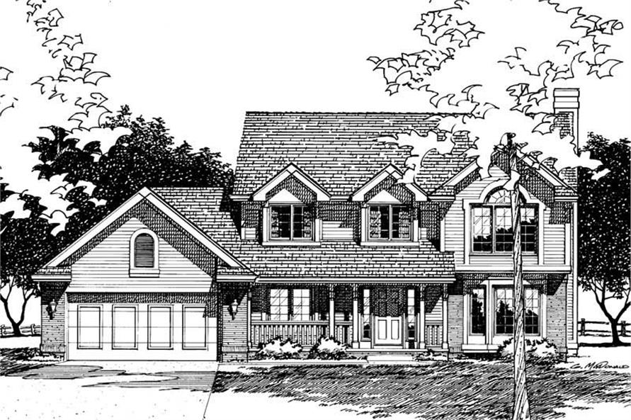 Home Plan Rendering of this 3-Bedroom,1998 Sq Ft Plan -120-1409