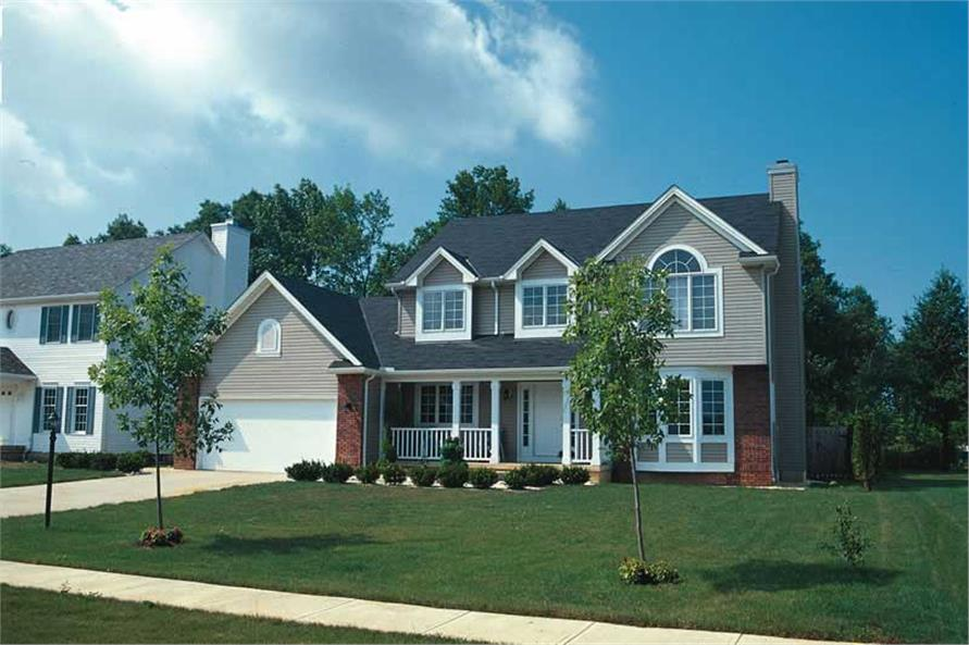3-Bedroom, 1998 Sq Ft Country House Plan - 120-1409 - Front Exterior