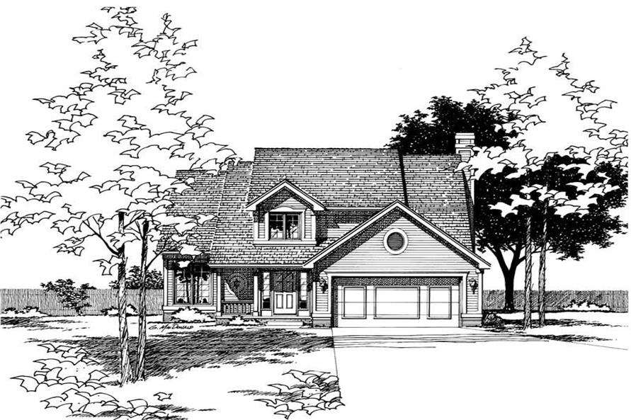 Main image for house plan # 5923
