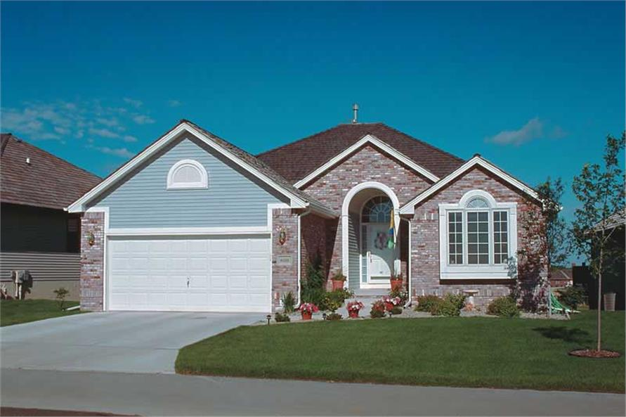 4-Bedroom, 1636 Sq Ft Small House Plans - 120-1420 - Main Exterior