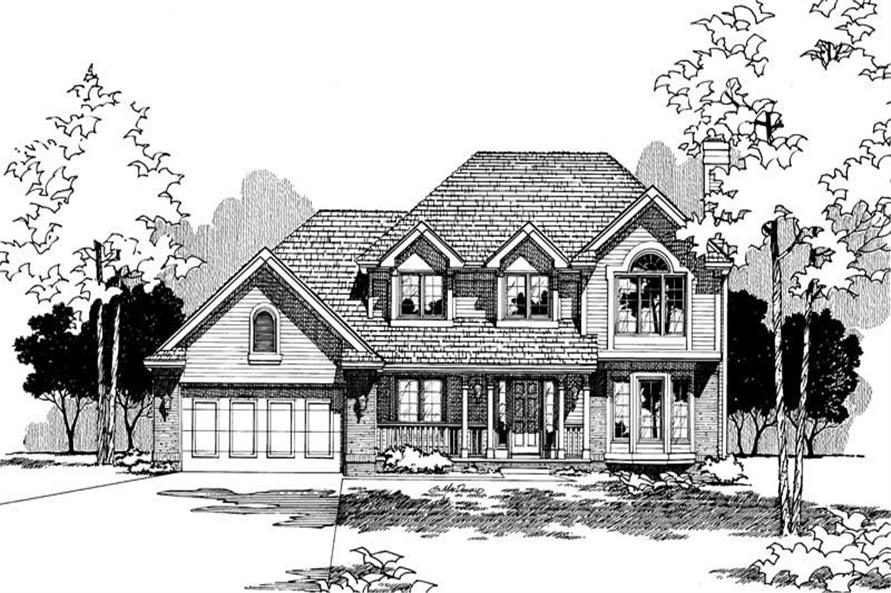 Home Plan Rendering of this 4-Bedroom,2131 Sq Ft Plan -120-1423