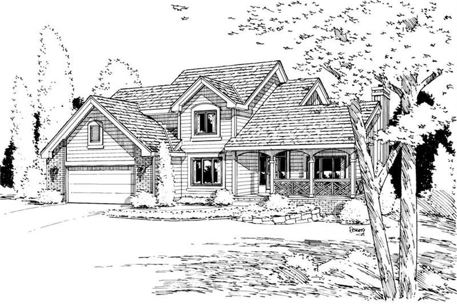 Main image for house plan # 5705