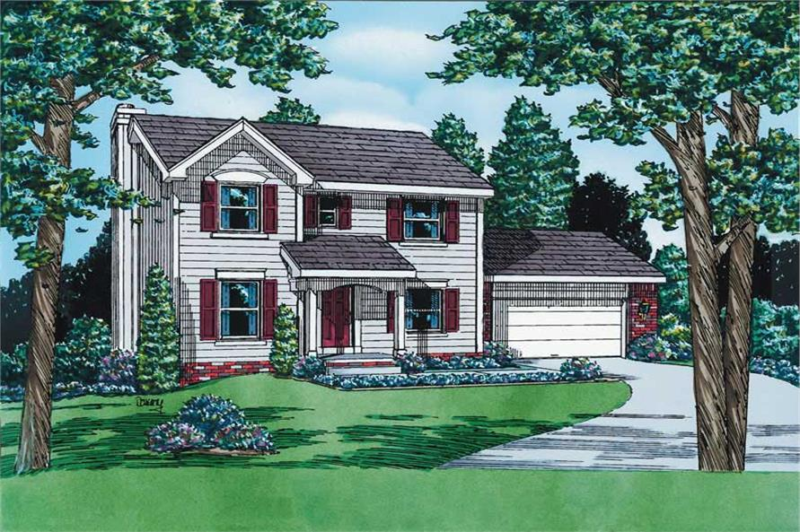3-Bedroom, 1608 Sq Ft Small House Plans - 120-1435 - Front Exterior