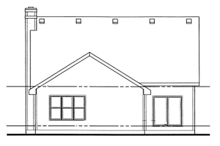 Home Plan Rear Elevation of this 4-Bedroom,2183 Sq Ft Plan -120-1448