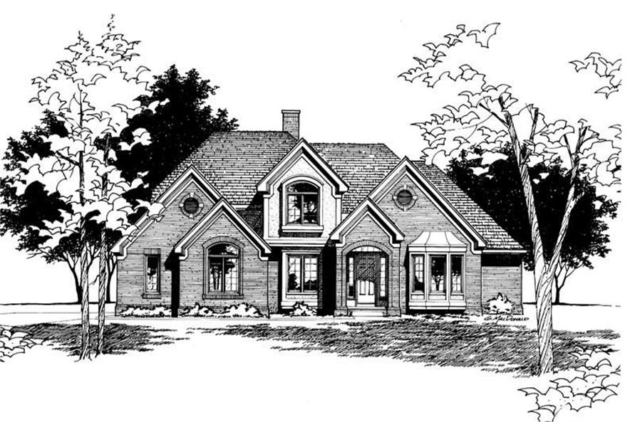Home Plan Rendering of this 4-Bedroom,2645 Sq Ft Plan -120-1453