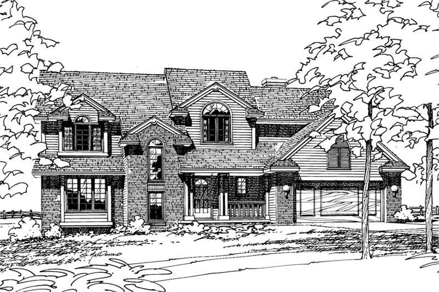4-Bedroom, 2474 Sq Ft French Home Plan - 120-1455 - Main Exterior