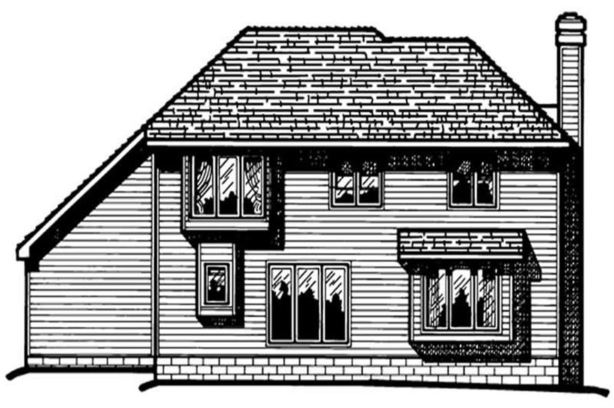 Home Plan Rear Elevation of this 3-Bedroom,1951 Sq Ft Plan -120-1462