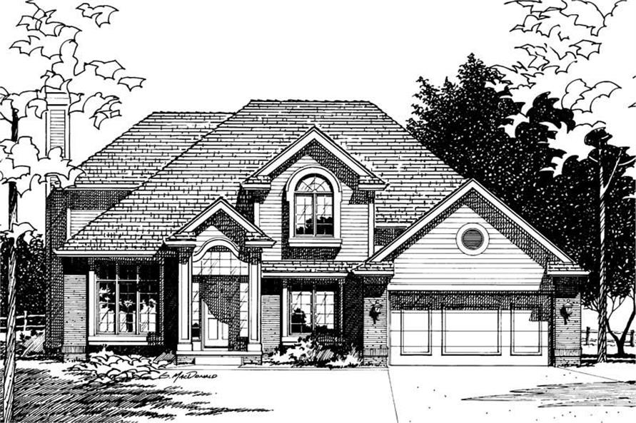 Front Elevation of this 3-Bedroom,1951 Sq Ft Plan -1951