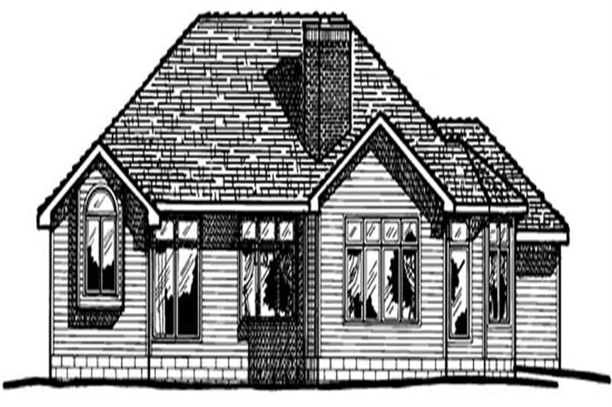 Home Plan Rear Elevation of this 4-Bedroom,2317 Sq Ft Plan -120-1463