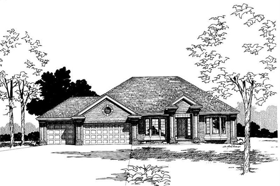 Home Plan Rendering of this 4-Bedroom,2317 Sq Ft Plan -120-1463